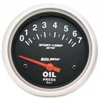 Manomètre de pression d'huile «SPORT COMP» diamètre 67mm  0-7 bars