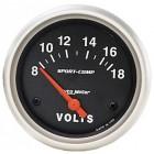 Voltmètre «SPORT COMP» diamètre 67mm  8-18 volts