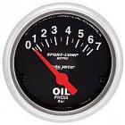 Manomètre de pression d'huile «SPORT COMP» diamètre 52mm  0-7 bars