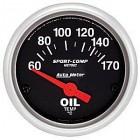Manomètre de température d'huile «SPORT COMP» diam. 52mm  60-170°c