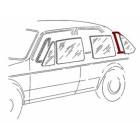 Joint pour vitre fixe de porte arrière gauche prévu pour moulure de Golf 1  5 portes
