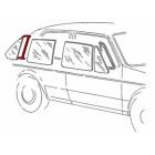 Joint pour vitre fixe de porte arrière droite prévu pour moulure de Golf 1  5 portes